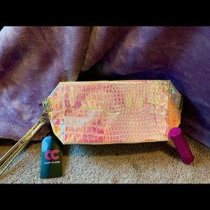 BOGO Iridescent Textured Cosmetic Case/Wristlet